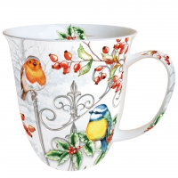 Porzellan-Tasse Birds & Holly