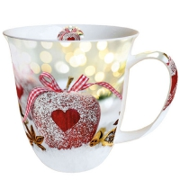 Porzellan-Tasse Heart On Apple