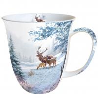 Porzellan-Tasse Deer Family