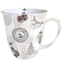 Porzellan-Tasse -  0.4 L White Decorations