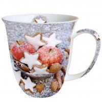 Porzellan-Tasse - Äpfel & Kekse