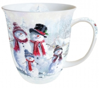Porzellan-Tasse - Snowman With Hat