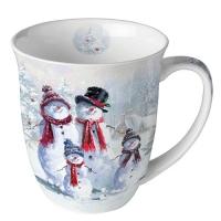 Porzellan-Tasse -  0.4 L Snowman With Hat