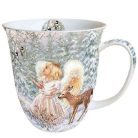 Porzellan-Tasse - Winter Angel