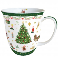 Porzellan-Tasse - Christmas Evergreen White