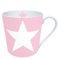 Porzellan-Henkelbecher Star Rose