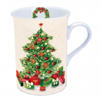 Porzellan-Tasse Christmas Tree