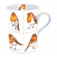 Porzellan-Tasse Robin Family
