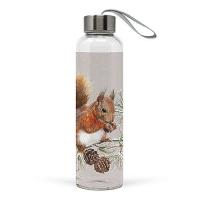 Glasflasche - Squirrel In Winter