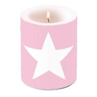 Dekorkerze CANDLE STAR ROSE