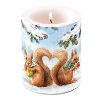 Dekorkerze - Eichhörnchen Liebe