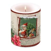 Dekorkerze - Santa Stamp
