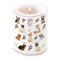 Dekorkerze - Christmas Dogs