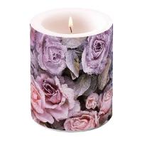 Dekorkerze - Winter Roses