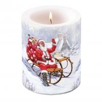 Dekorkerze - Santa On Sledge