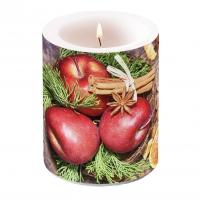 Dekorkerze - Winter Apples