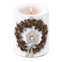 Dekorkerze - Pine Cone Wreath