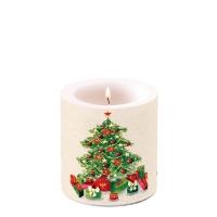 Dekorkerze klein -  Christmas Tree