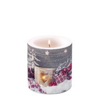 Dekorkerze klein -  Birch Candlelight