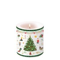 Dekorkerze klein - Christmas Evergreen White