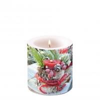 Dekorkerze klein - Frozen Candle