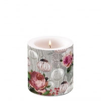 Dekorkerze klein - Roses And Baubles