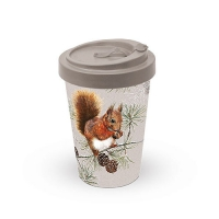 Bamboo mug To-Go - Squirrel In Winter
