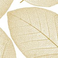 Servietten 25x25 cm - Apart, weiß-gold
