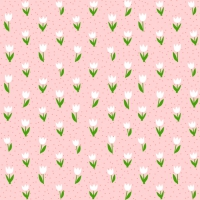 Servietten 25x25 cm - Minitulips rosa