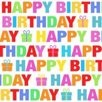 Servietten 33x33 cm - Colour Birthday