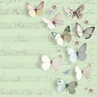 Servietten 33x33 cm - Petits Papillons