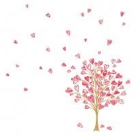 Servietten 33x33 cm - Love Tree rot