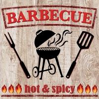 Servietten 33x33 cm - Hot Barbecue