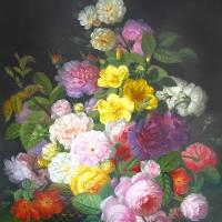 Servietten 33x33 cm - Barock Flower