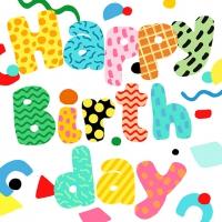 Servietten 33x33 cm - Birthday Fun
