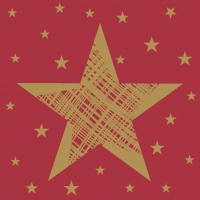 Servietten 24x24 cm - Shining Star Red