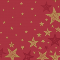 Servietten 33x33 cm - Shining Star Red