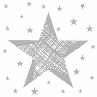Servietten 24x24 cm - Shining Star White