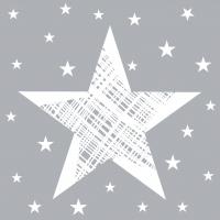 Servietten 24x24 cm - Shining Star Grey