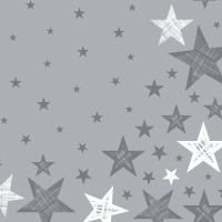 Servietten 33x33 cm - Shining Star Grey