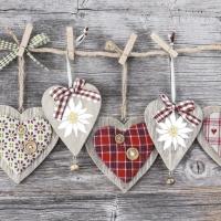 Servietten 33x33 cm - Floral Hearts