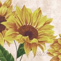 Servietten 24x24 cm - Sunflower Poem