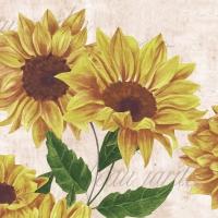 Servietten 33x33 cm - Sunflower Poem