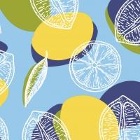 Servietten 24x24 cm - Limone