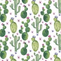 Servietten 33x33 cm - Floral Cactus