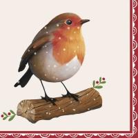 Servietten 33x33 cm - Happy Robin