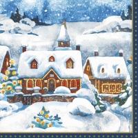 Servietten 24x24 cm - Winter Village