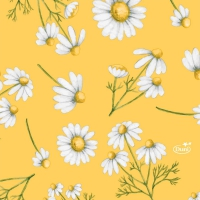 Servietten 24x24 cm - Pretty Daisy Yellow