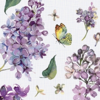 Servietten 33x33 cm - Sweet Butterfly Lilac
