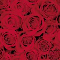 Servietten 24x24 cm - Red Roses